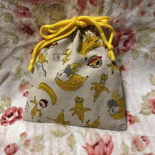ハンドメイド 巾着袋 コップ袋 猫 🍌🐈(外出用品)