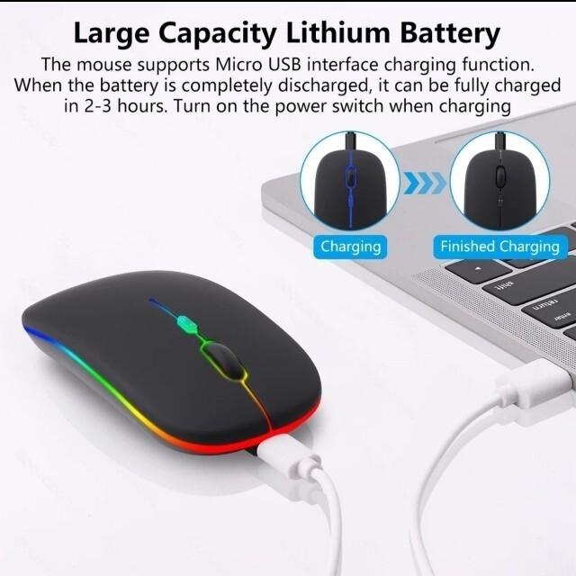 充電器式のLEDマウス 無線 Bluetooth W接続 パッケージ版 スマホ/家電/カメラのPC/タブレット(PC周辺機器)の商品写真