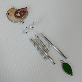 【同梱100円引】 美品 ドアベル ウィンドベル 風鈴 ことり 小鳥 インテリア(日用品/生活雑貨)