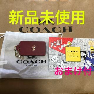 COACH - ★新品未使用★コーチ スヌーピー バック タグ チャーム おまけ ポストカード付