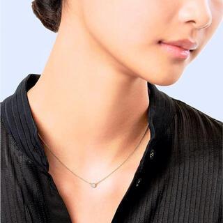 ティファニー(Tiffany & Co.)のティファニー 美品 バイザヤード ダイヤモンド ネックレス YG 0.14ct (ネックレス)