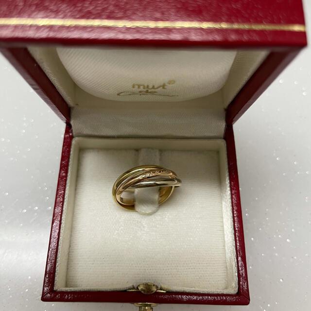 Cartier(カルティエ)のカルティエ 7号#47 トリニティリング k18 スリーカラーリング レディースのアクセサリー(リング(指輪))の商品写真
