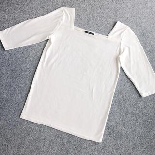 エモダ(EMODA)の【美品】EMODA スクエアネック ホワイト 白T Tシャツ トップス(カットソー(長袖/七分))