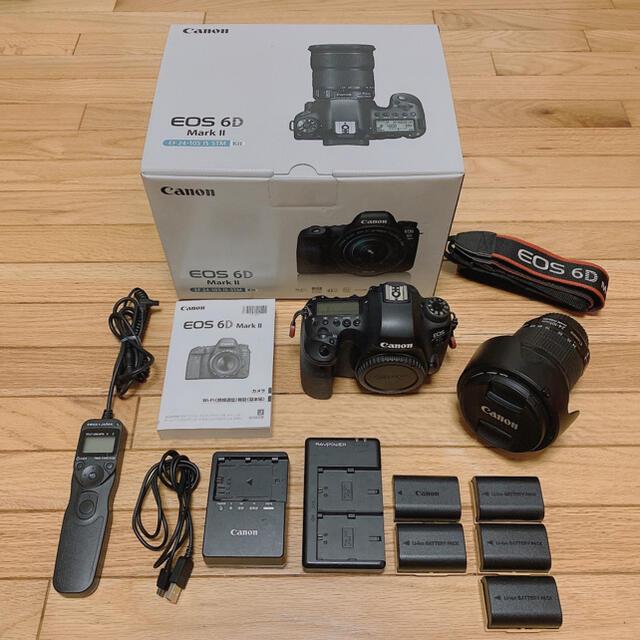 Canon(キヤノン)のCanon EOS 6D mark2 EF24-105 IS STM スマホ/家電/カメラのカメラ(デジタル一眼)の商品写真