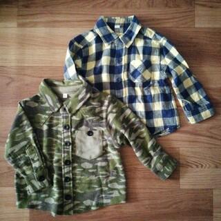 ベビーギャップ(babyGAP)のシャツ 80cm セット チェック柄 迷彩 キッズ ベビー アウター シャツ(シャツ/カットソー)