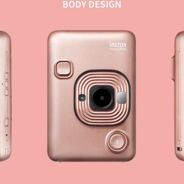 富士フイルム(フジフイルム)のinstax mini LiPlay チェキ [ブラッシュゴールド] スマホ/家電/カメラのカメラ(フィルムカメラ)の商品写真