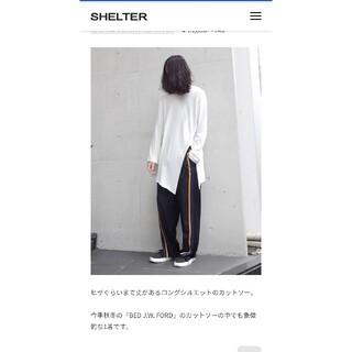ヨウジヤマモト(Yohji Yamamoto)のBED J.W. FORD ベッドフォード Slit Sleeve(Tシャツ/カットソー(七分/長袖))
