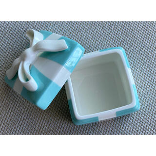 ティファニー(Tiffany & Co.)のティファニー ミニブルー ボウボックス 小物入れ 陶器(小物入れ)