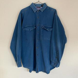 patagonia - OLD patagonia デニムシャツ 90s Blue インディゴブルー