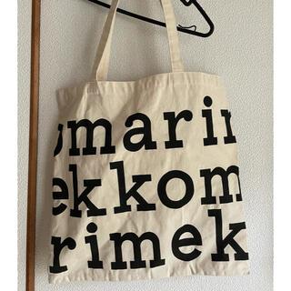マリメッコ(marimekko)のマリメッコ ノベルティ ロゴトートバッグ 黒文字(トートバッグ)