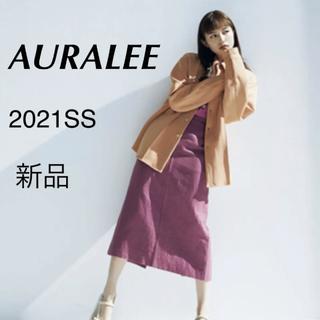 ロンハーマン(Ron Herman)の【新品未使用】完売 AURALEE オーラリー 2021SS スカート ピンク(ロングスカート)