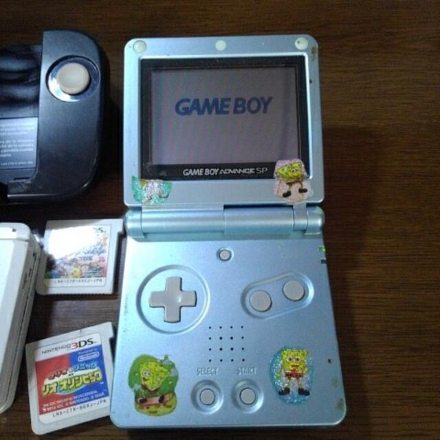 任天堂(ニンテンドウ)の3DS ゲームボーイアドバンスSP セット エンタメ/ホビーのゲームソフト/ゲーム機本体(携帯用ゲーム機本体)の商品写真