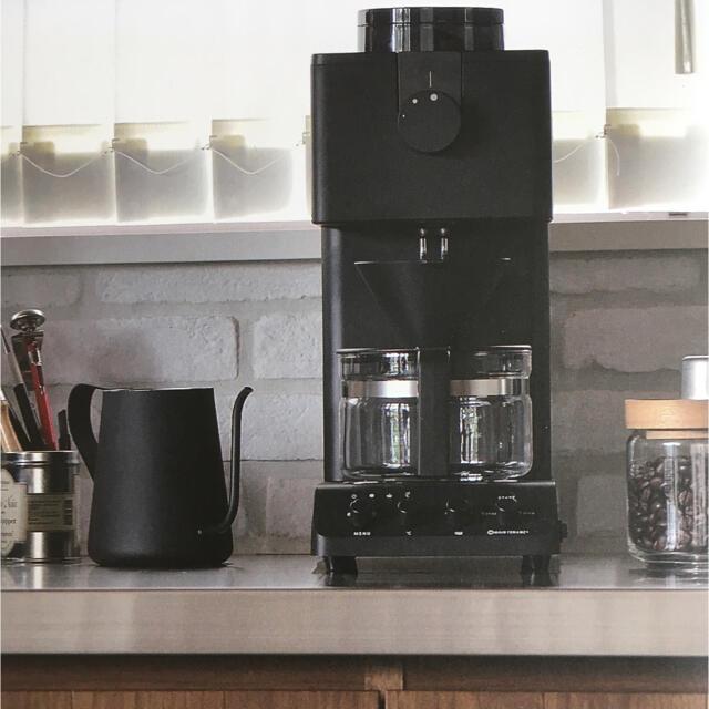 TWINBIRD(ツインバード)のツインバード 全自動コーヒーメーカー ブラック(3cup) CM-D457B スマホ/家電/カメラの調理家電(コーヒーメーカー)の商品写真