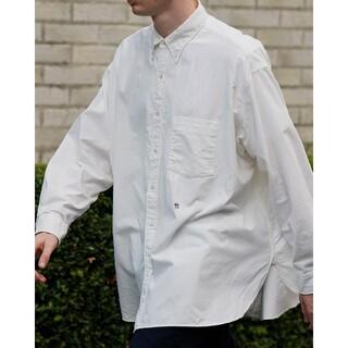 ナナミカ(nanamica)のnanamica × 長谷川昭雄 メンズ L シャツ 日本製 ホワイト 白(シャツ)