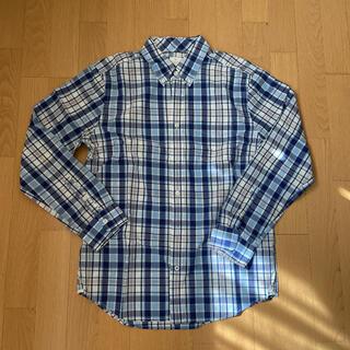 ギャップ(GAP)のGAP チェックシャツ  ブルー&ホワイト(シャツ)