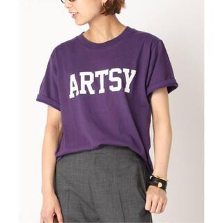 DEUXIEME CLASSE - 【ACHENE/エイキーン】ARTSY Tシャツ パープル