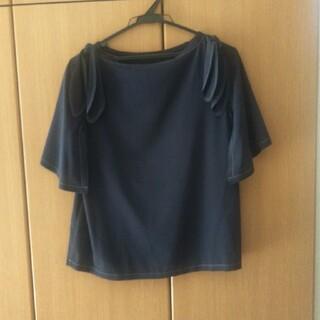 ランバンオンブルー(LANVIN en Bleu)のランバン 半袖ブラウス(シャツ/ブラウス(半袖/袖なし))