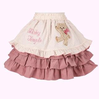 Shirley Temple - シャーリーテンプル くま ベビーフリーサイズ ピンク スカート 80 90cm