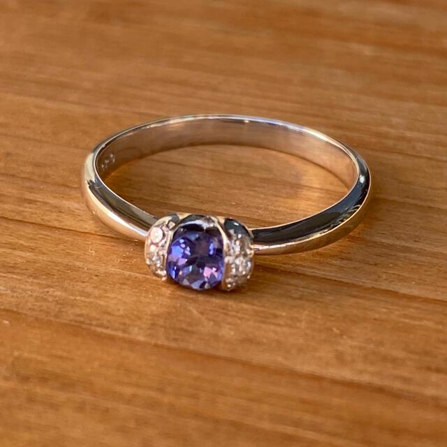 あゆのしん様専用です  PT900 タンザナイトダイヤモンドリング レディースのアクセサリー(リング(指輪))の商品写真