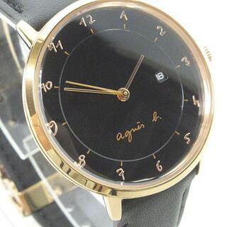 アニエスベー(agnes b.)のアニエスベー  美品  腕時計 クォーツ  文字盤黒   VJ12-KY40 (腕時計)