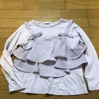 GU - GU フリル長袖Tシャツ 130