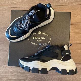 プラダ(PRADA)のPrada プラダ pegasus UK7 ダッドスニーカー 厚底 ヒール(スニーカー)