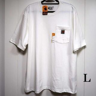 カーハート(carhartt)のCarhartt ホワイト Tシャツ/L(Tシャツ/カットソー(半袖/袖なし))