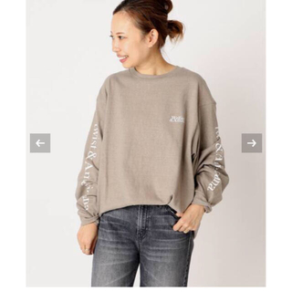 DEUXIEME CLASSE - Deuxieme Classe アメリカーナ LOGO LONG Tシャツ