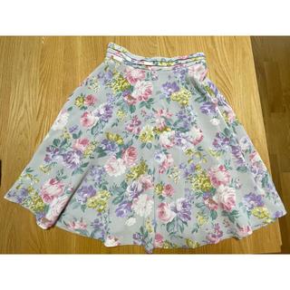 ミッシュマッシュ(MISCH MASCH)のMISCH MASCH 膝丈 花柄 スカート(ひざ丈スカート)