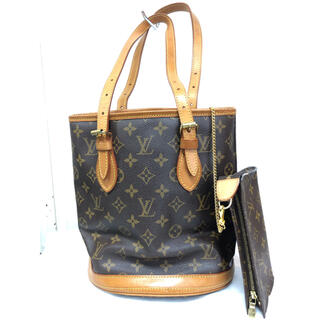 LOUIS VUITTON - 【期間限定】ルイヴィトン モノグラム バケット PM M42238 + ポーチ