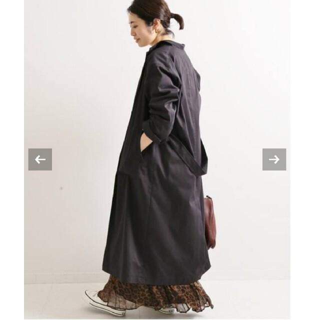 IENA(イエナ)のイエナ♡コットンナイロン サテンガウンコート 38 レディースのジャケット/アウター(ガウンコート)の商品写真