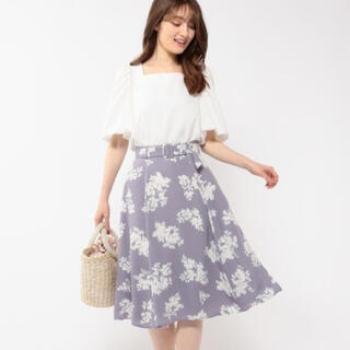 ミッシュマッシュ(MISCH MASCH)の花柄スカート(ひざ丈スカート)