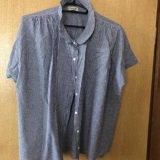 SM2 - サマンサモスモス SM2 ギンガムチェック 半袖シャツ ネイビー