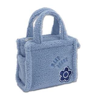 マリークワント(MARY QUANT)の新品 マリークワント ボアデイジートートバッグ 限定ブルー(トートバッグ)