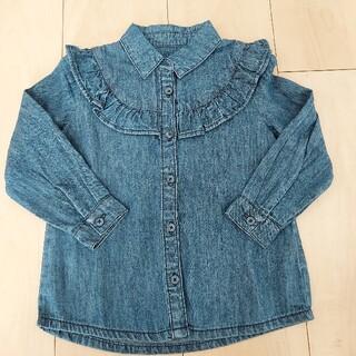 西松屋 - 新品未使用 デニムシャツ 95