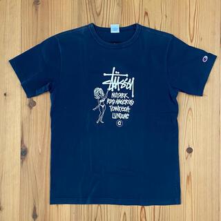 チャンピオン(Champion)のステューシー×チャンピオン 厚手生地Lサイズ(Tシャツ/カットソー(半袖/袖なし))