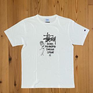 ステューシー(STUSSY)の 厚手生地Lサイズ ステューシー×チャンピオン(Tシャツ/カットソー(半袖/袖なし))