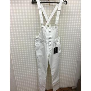 【新品】フロントボタンサロペット デニムオーバーオール
