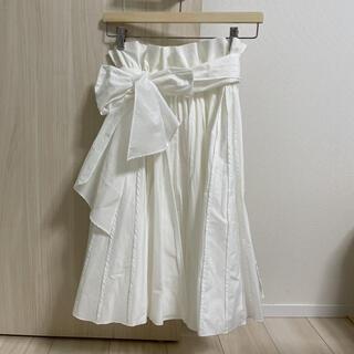 フレイアイディー(FRAY I.D)のフレイアイディー プリーツスカート 未使用(ひざ丈スカート)