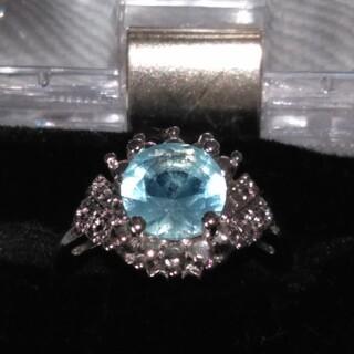 アクアマリン ブルートパーズ指輪