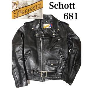 ショット(schott)のSchott ショット Wライダースジャケット レザージャケット USA製 (ライダースジャケット)
