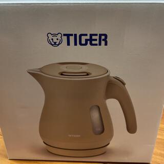 タイガー(TIGER)の新品 タイガー 電気ケトル 1.0L サンドベージュ PCL-A100CS(調理機器)