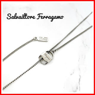 Salvatore Ferragamo - 希少♡ サルヴァトーレ フェラガモ シルバー ロングネックレス