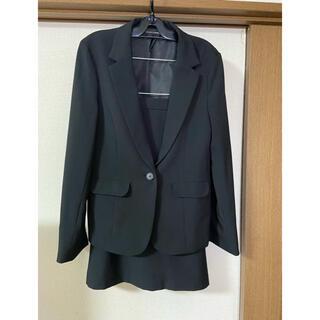 美品 レディース 黒 スーツ セットアップ