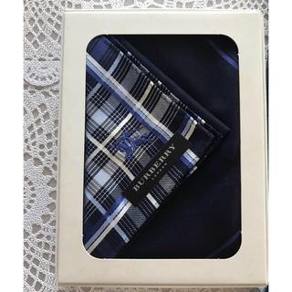 BURBERRY - ☆新品☆バーバリーハンカチ 箱付き