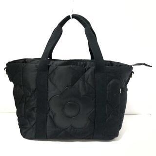 マリークワント(MARY QUANT)のマリークワント ハンドバッグ美品  - 黒(ハンドバッグ)