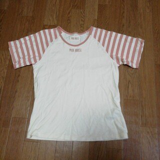 ピンクハウス(PINK HOUSE)のPINK HOUSE ♥️ボーダーピンクTシャツ♥️(Tシャツ(半袖/袖なし))