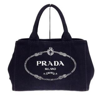 PRADA - プラダ トートバッグ CANAPA 黒×ベージュ