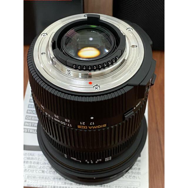SIGMA(シグマ)のSIGMA シグマ 17-50F2.8EX DC OS HSM/N ニコン用 スマホ/家電/カメラのカメラ(レンズ(ズーム))の商品写真