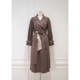 snidel - herlipto belted dress trench coat cocoa